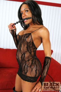 ebony tranny babe in a sexy black underwear