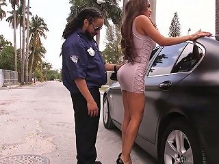 Nasty Big Tittied And Big Bottomed Shemale Diana Love Is Fucked By Black Cop
